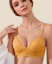 Load image into Gallery viewer, Lace Bra Push Up Orange