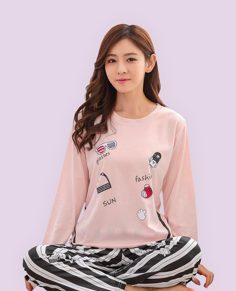 Pajamas Set Pink Striped
