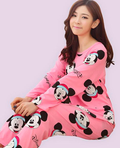 Pajamas Cartoon Set Pink