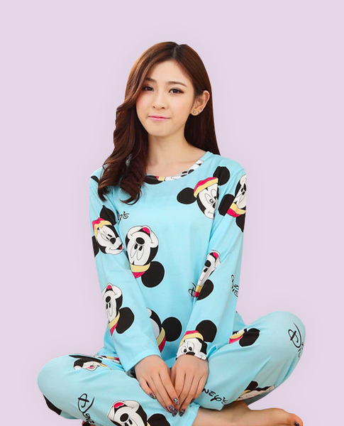 Pajamas Cartoon Set Blue