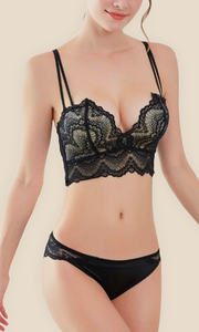 Lace Bra Push Up & Thin Panties Set
