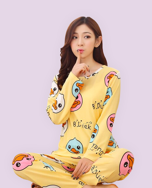 Pajamas Cartoon Set Yellow
