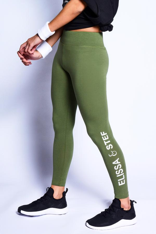 Logo Leggings - Khaki