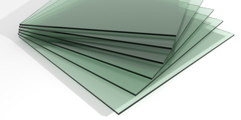 close up on float glass