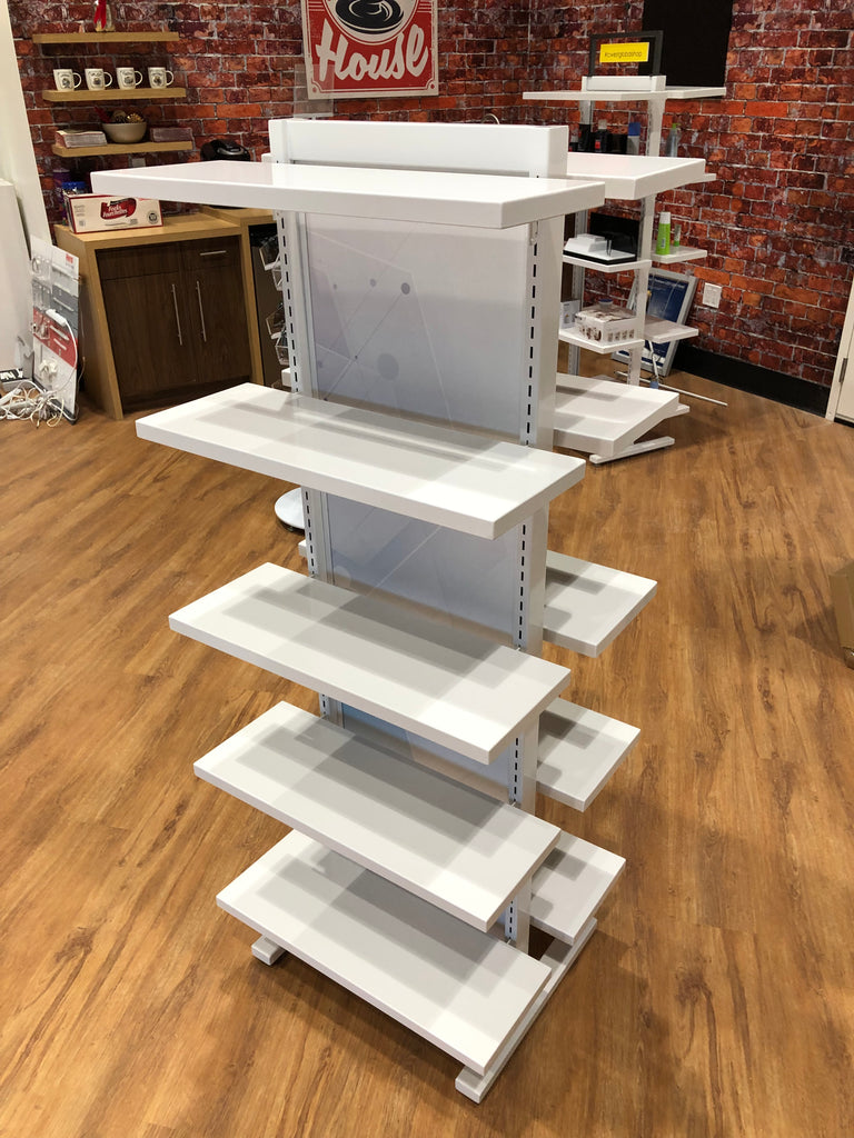 Double Sided Shelf Display
