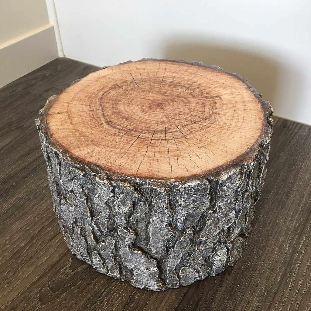 close up of the medium oak stump