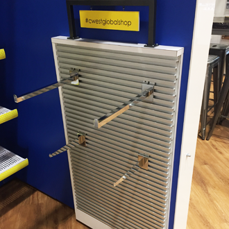 Single Sided Metal Slatwall with Rear Mounting Hooks