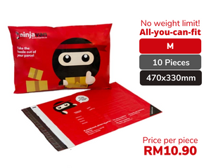 10 Pieces Ninja Packs Bundle M size
