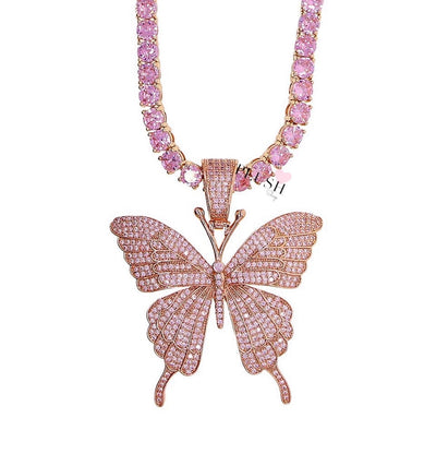 ICONIC Butterfly ROSA + Tennis Chain