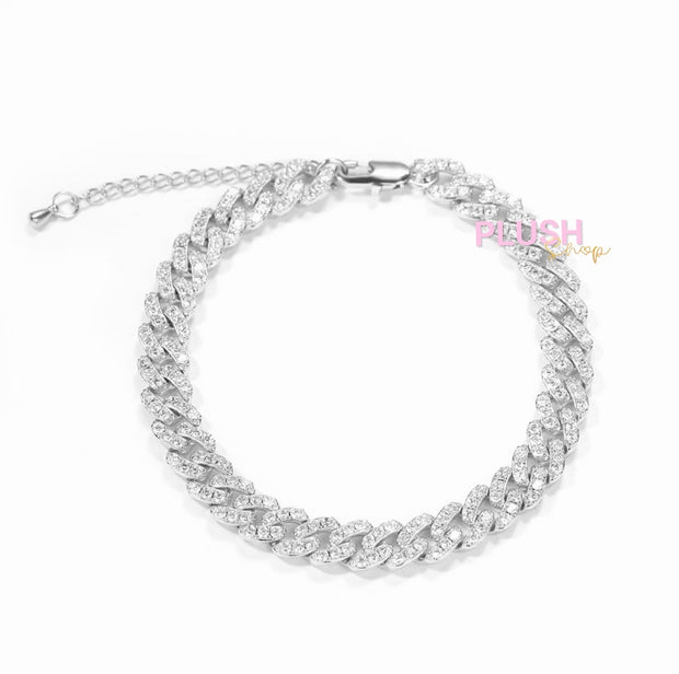 Dainty Adjustable Cuban Anklet