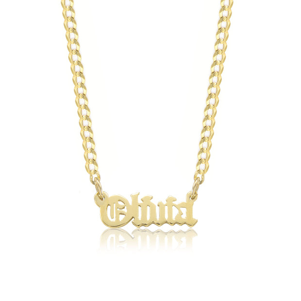 Old English Custom Name Necklace