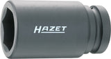 HAZET Impact socket (6-point) 1100SLG-30 ∙ Square, hollow 25 mm (1 inch) ∙ Outside hexagon profile ∙ 30 mm