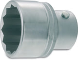 HAZET Socket (12-point) 1100Z-60 ∙ Square, hollow 25 mm (1 inch) ∙ Outside 12-point profile ∙ 60 mm