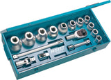 HAZET Socket set 1100Z ∙ Square, hollow 25 mm (1 inch) ∙ Outside 12-point profile ∙ Number of tools: 17