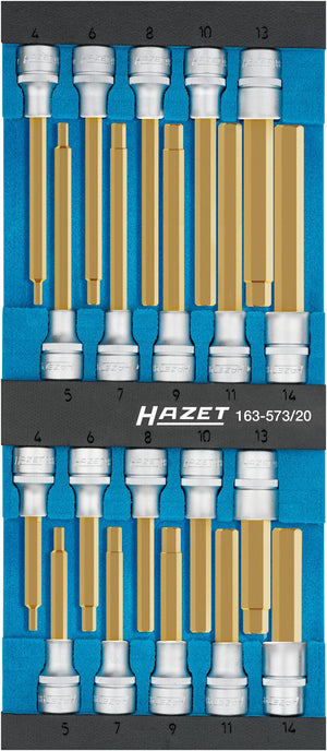 HAZET Screwdriver socket set 163-573/20 ∙ Number of tools: 20
