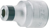 HAZET Adapter 2250-4 ∙ Square, hollow 12.5 mm (1/2 inch) ∙ Hexagon, hollow 6.3 (1/4 inch)