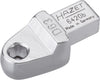 HAZET Insert tool holder for bits 6420B ∙ Insert square 9 x 12 mm ∙ Hexagon, hollow 6.3 (1/4 inch)