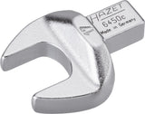 HAZET Insert open-end wrench 6450C-17 ∙ Insert square 9 x 12 mm ∙ Outside hexagon profile ∙ 17 mm