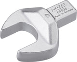 HAZET Insert open-end wrench 6450D-27 ∙ Insert square 14 x 18 mm ∙ Outside hexagon profile ∙ 27 mm
