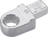 HAZET Insert box-end wrench 6630C-12 ∙ Insert square 9 x 12 mm ∙ Outside 12-point traction profile ∙ 12 mm
