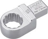 HAZET Insert box-end wrench 6630C-15 ∙ Insert square 9 x 12 mm ∙ Outside 12-point traction profile ∙ 15 mm