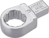HAZET Insert box-end wrench 6630C-17 ∙ Insert square 9 x 12 mm ∙ Outside 12-point traction profile ∙ 17 mm
