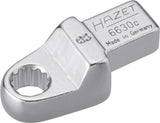 HAZET Insert box-end wrench 6630C-8 ∙ Insert square 9 x 12 mm ∙ Outside 12-point traction profile ∙ 8 mm