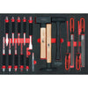 SCS File, chisel and hammer set, 18 pcs, 1/1 system insert