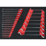 KS Tools Spanner set, 24 pcs, 1/1 system insert