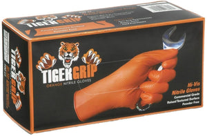 Tiger Grip - Nitrile disposable gloves - orange
