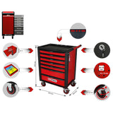KS Tools RACINGline BLACK/RED tool cabinet with 7 drawers