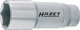 HAZET Socket (6-point) 880LG-21 ∙ Square, hollow 10 mm (3/8 inch) ∙ Outside hexagon Traction profile ∙ 21 mm