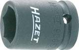 HAZET Impact socket (6-point) 900S-18 ∙ Square, hollow 12.5 mm (1/2 inch) ∙ Outside hexagon Traction profile ∙ 18 mm