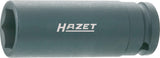HAZET Impact socket (6-point) 900SLG-17 ∙ Square, hollow 12.5 mm (1/2 inch) ∙ Outside hexagon Traction profile ∙ 17 mm