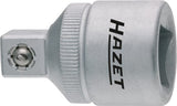 HAZET Reducer 958-2 ∙ Square, hollow 12.5 mm (1/2 inch) ∙ Square, solid 10 mm (3/8 inch)