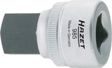 HAZET Screwdriver socket 985-17 ∙ Square, hollow 12.5 mm (1/2 inch) ∙ Inside hexagon profile ∙ 17 mm