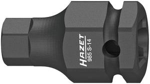 HAZET Impact ∙ screwdriver socket 985S-14 ∙ Square, hollow 12.5 mm (1/2 inch) ∙ Inside hexagon profile ∙ 14 mm