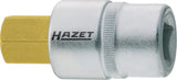 HAZET Screwdriver socket 986-10 ∙ Square, hollow 12.5 mm (1/2 inch) ∙ Inside hexagon profile ∙ 10 mm