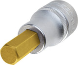 HAZET Screwdriver socket 986A-7/32 ∙ Square, hollow 12.5 mm (1/2 inch) ∙ Inside hexagon profile ∙∙ 7⁄32 ″