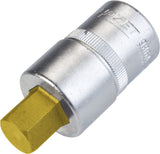 HAZET Screwdriver socket 986A-1/2 ∙ Square, hollow 12.5 mm (1/2 inch) ∙ Inside hexagon profile ∙∙ 1⁄2 ″