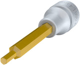 HAZET Screwdriver socket 986L-4 ∙ Square, hollow 12.5 mm (1/2 inch) ∙ Inside hexagon profile ∙ 4 mm
