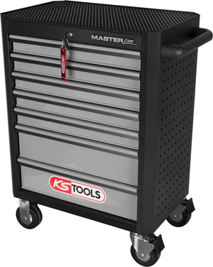 MASTERline tool cabinet,with 7 drawers black/silver