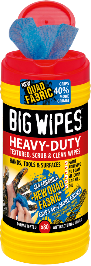 "Big Wipes ""Red Top"" Heavy-Duty 4×4"