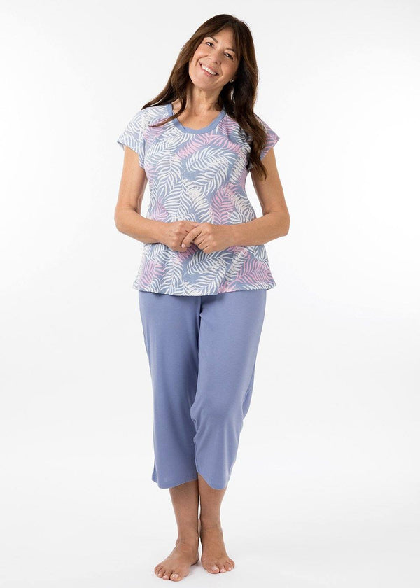 ladies sleepwear - 3/4 pj pant in periwinkle