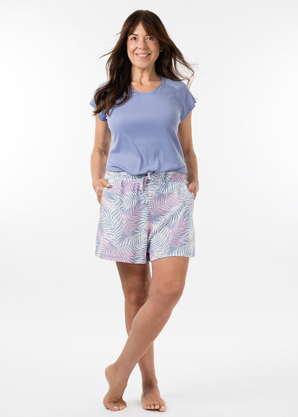 ladies sleepwear - boyfriend short in havana print