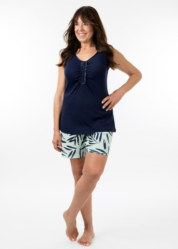 eaden sleepwear - georgia tank top in navy