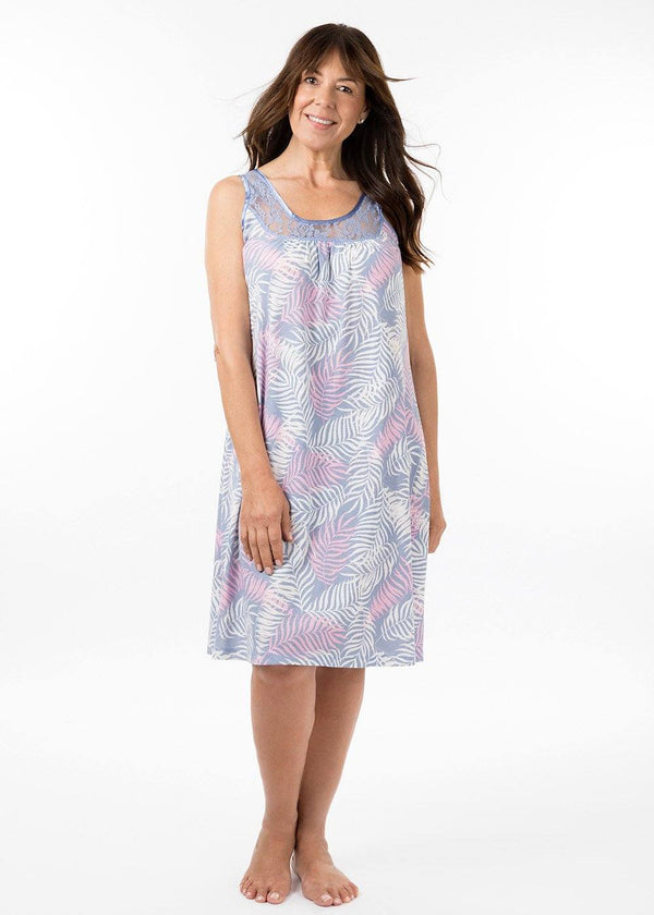 ladies nightwear - sarah nightie in havana print