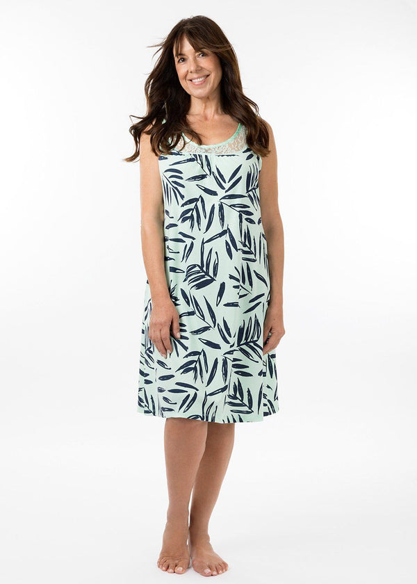ladies nightwear - sarah nightie in bermuda print