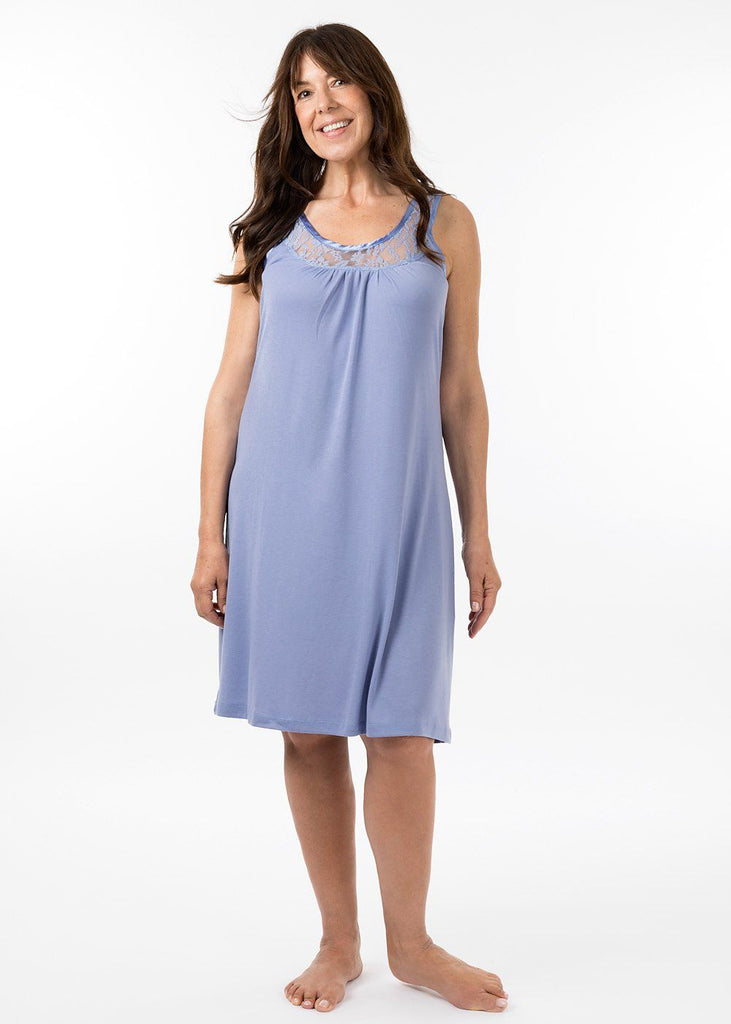 ladies nightwear - sarah nightie in periwinkle