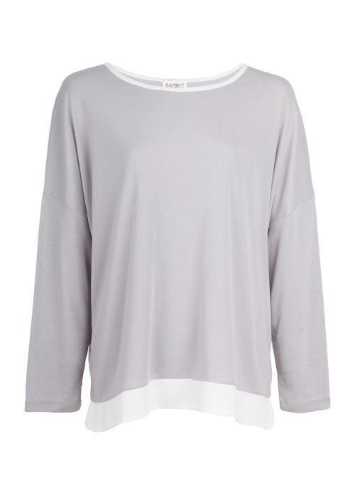 Eaden Lounge Long Sleeve Top - Grey